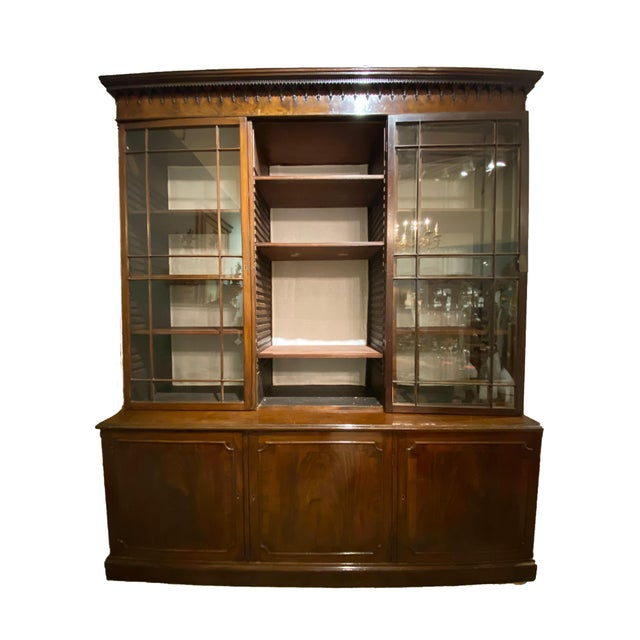 Chippendale 18th Century Chippendale Breakfront For Sale - Image 3 of 10