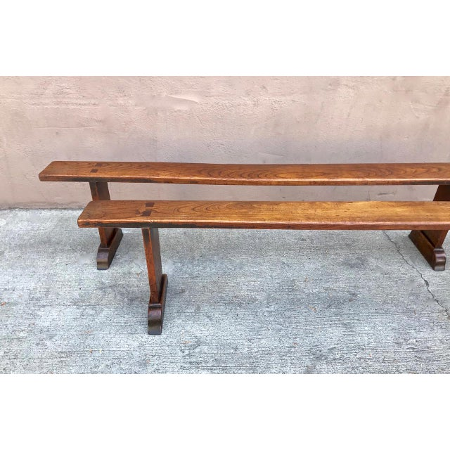 Boho Chic 19th Century Antique Benches - a Pair For Sale - Image 3 of 12