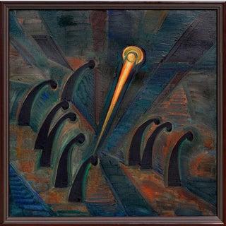 Requiem -- Russian Surrealist Symbolist Oil Painting For Sale