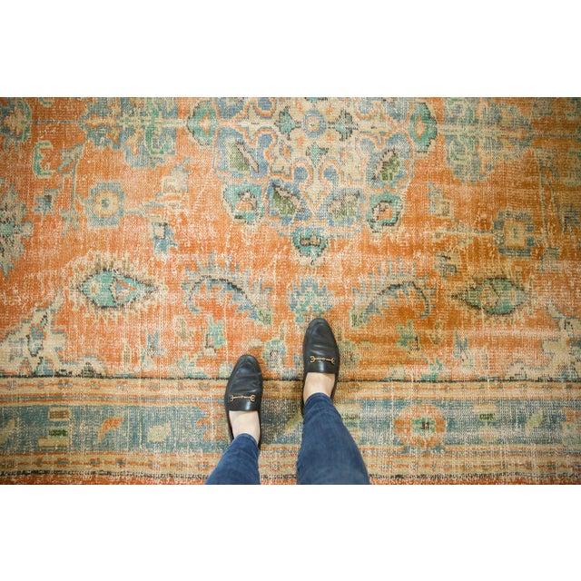 "Vintage Distressed Oushak Carpet - 6'4"" X 9'3"" For Sale - Image 11 of 13"