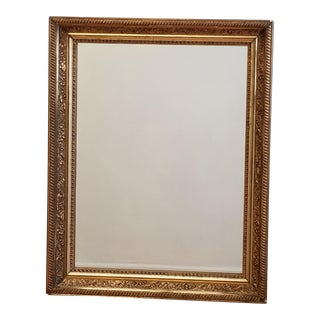 19th Century Antique Victorian Gold Gilt & Gesso Wall Mirror For Sale