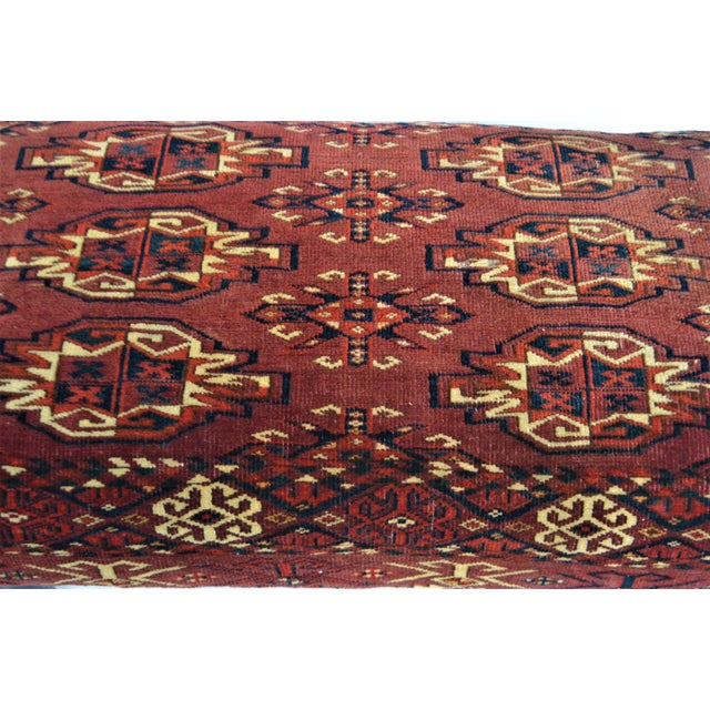 Antique 19th Century Rug Covered Bench For Sale - Image 4 of 10