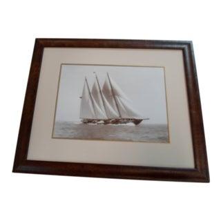 Bekens Nautical Sepia Sailing Print For Sale
