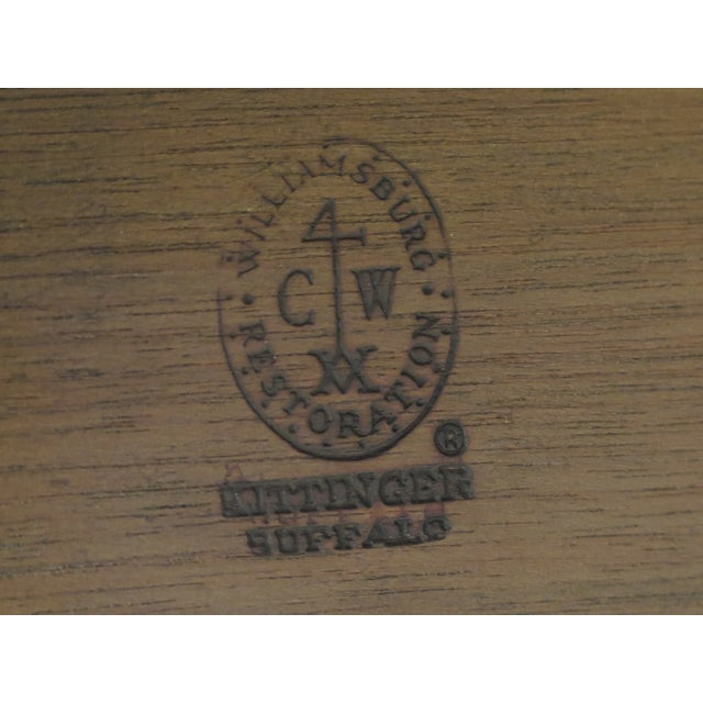 1960s Queen Anne Kittinger Colonial Williamsburg Mahogany Drop Leaf Table For Sale - Image 11 of 13