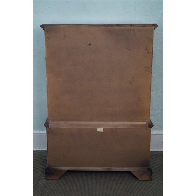 Thomasville Cherry Chippendale Tall Chest on Chest - Image 4 of 10