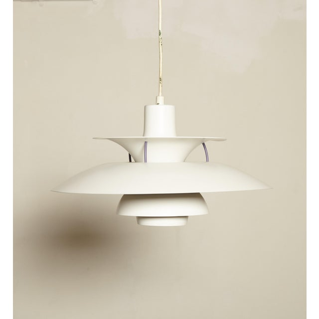 A classic vintage PH5 pendant lamp by Poul Henningsen for Louis Poulsen, Denmark. Diameter 50 cm. Two are available. Ships...