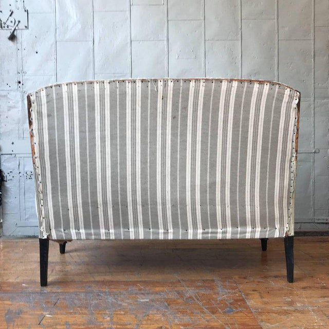 Small French Settee With High Back For Sale In New York - Image 6 of 11