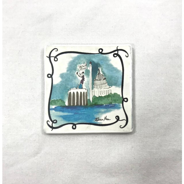 Ceramic Vacationist Coasters - Set of 6 For Sale - Image 4 of 9