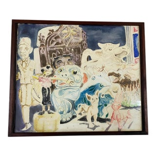 "Richard Whalen ""Jeffery's Toy's"" Original Watercolor Painting C.1970s For Sale"