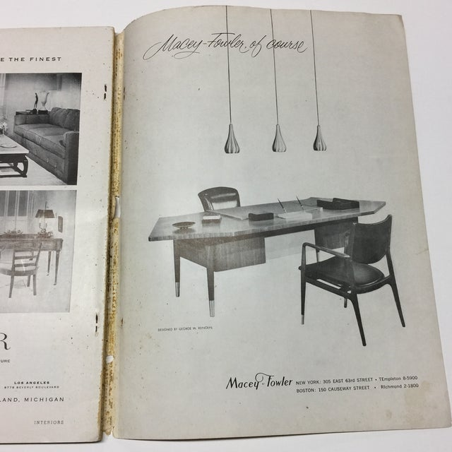 1950s Vintage Interiors Architecture Magazine For Sale - Image 10 of 12