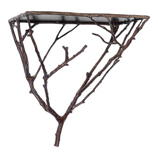 Brass Twig Wall Bracket, Bronze Finish, Made in Germany For Sale