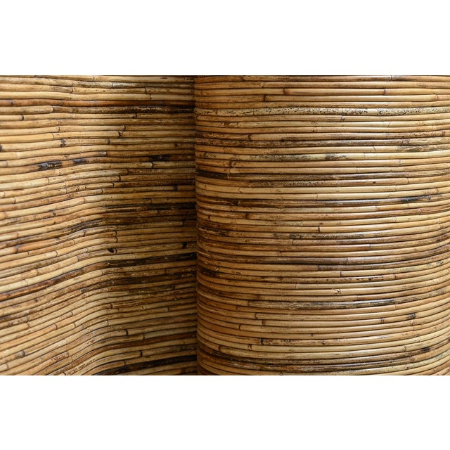 "Italian Gabriella Crespi Style, Pencil Bamboo ""S"" Shape Console Table,, C.1970 For Sale - Image 9 of 13"