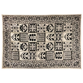1970s Vintage Handwoven Rug - 6′ × 8′10″ For Sale