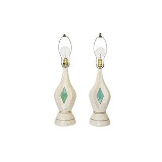 Mid-Century Ceramic Lamps - A Pair
