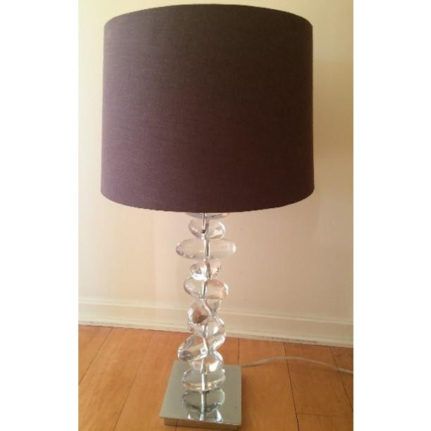 Interior Crafts Rock Glass Table Lamp - Image 2 of 3