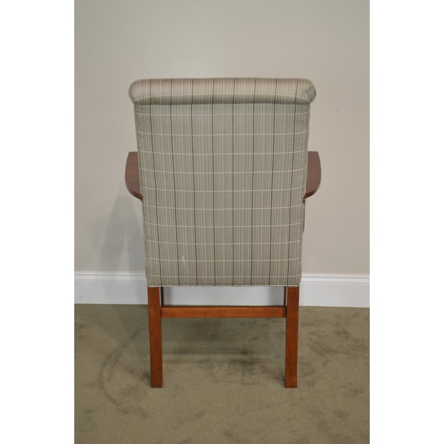 Stickley 21st Century Collection Set of 6 Cherry Upholstered Dining Chairs For Sale In Philadelphia - Image 6 of 13