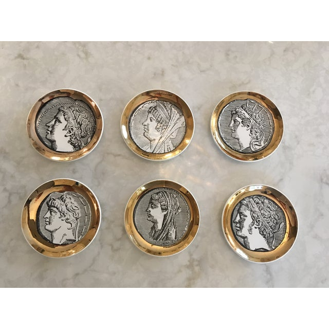 Fornasetti Coasters, Set of Six For Sale - Image 11 of 11