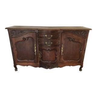 French Louis XV Style Oak Sideboard For Sale
