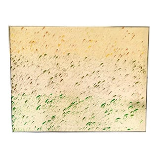 Mid Century Oil on Canvas - Brush Strokes, Signed and Dated 1971 For Sale