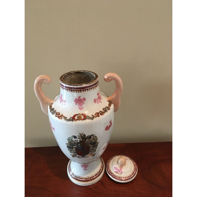 Chinese Antique Chinese Hand Painted Urn For Sale - Image 3 of 7
