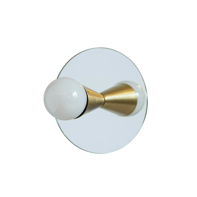 Souda Echo 1 Sconce in Brass With Mirror-Backing by Souda For Sale - Image 4 of 6