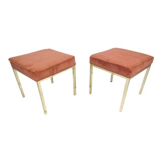 Pair Mid-Century Modern Decorator's Stools For Sale