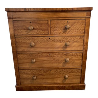 Late 19th Century Antique Satin Birchwood Highboy For Sale