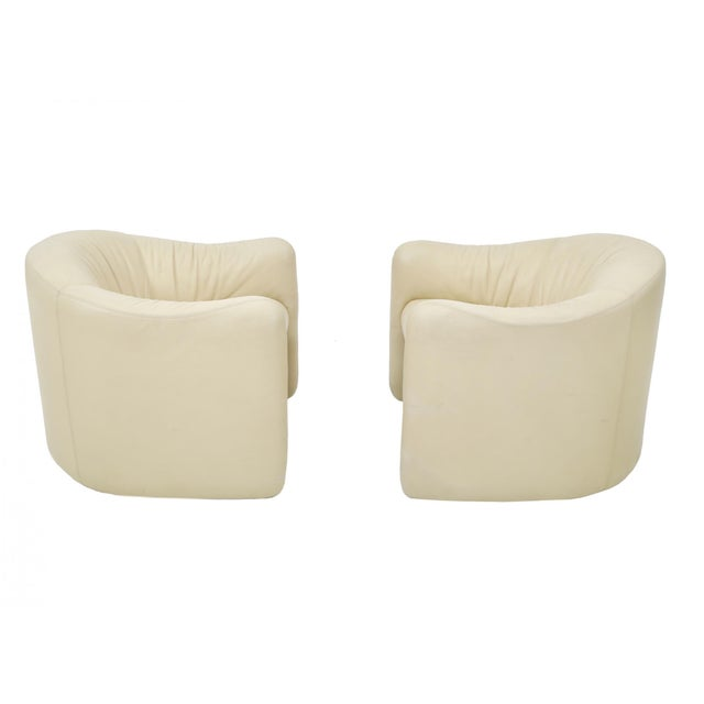 Leather Barrel Back Chairs, Metropolitan 1970's For Sale - Image 13 of 13