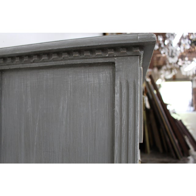 Gray 20th Century Vintage Swedish Gustavian Style Nightstands - a Pair For Sale - Image 8 of 11