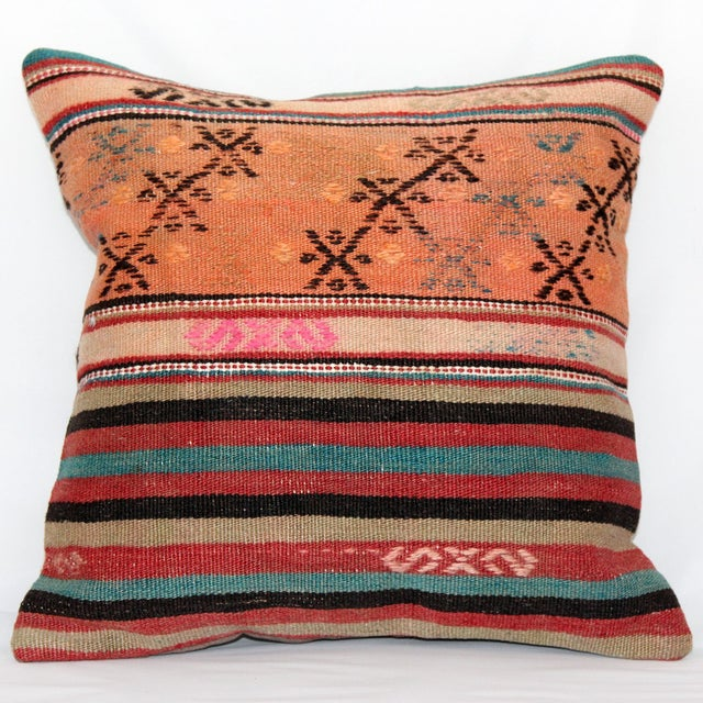Turkish Handmade Kilim Pillow Cover - Image 2 of 8