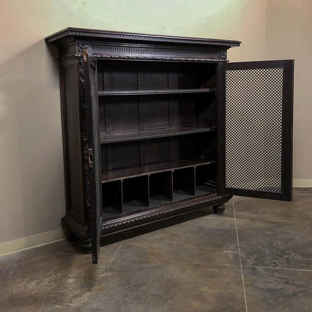 Neoclassical 19th Century Italian Neoclassical Walnut Barrister's Bookcase For Sale - Image 3 of 12