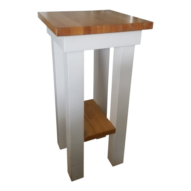 Small Butcher Block Tall Bar/ Island Table For Sale