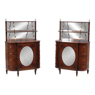 Pair of Regency Style Servers For Sale