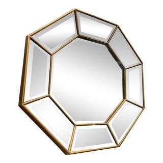 Mr. Brown Octagonal Mirror For Sale