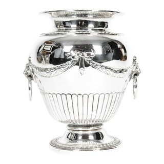 Old Sheffield Silver Plate Decorative Vase For Sale