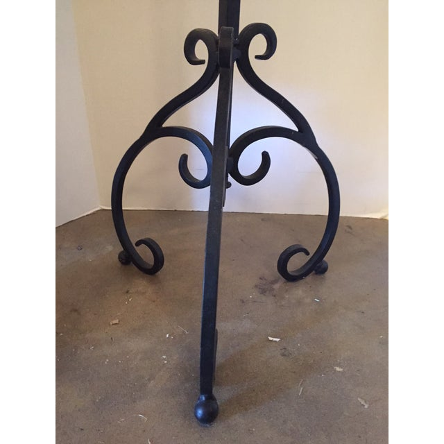 Italian Wrought Iron Base & Marble Top Bistro Table - Image 4 of 6