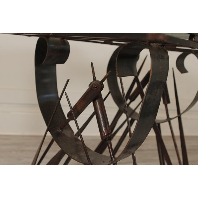 Metal Modern Handmade Wrought Iron Side Tables For Sale - Image 7 of 10