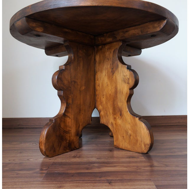 20th Century Rustic Round Coffee Table or Side Table - Image 5 of 7