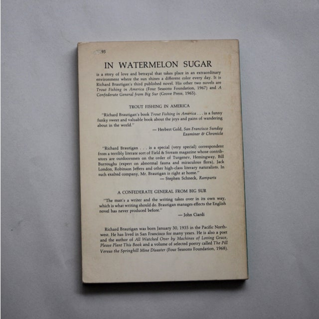 Brautigan's 1st Ed. 'In Watermelon Sugar' Book For Sale In Los Angeles - Image 6 of 6