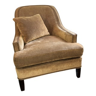 Century Furniture Tan Armchair For Sale