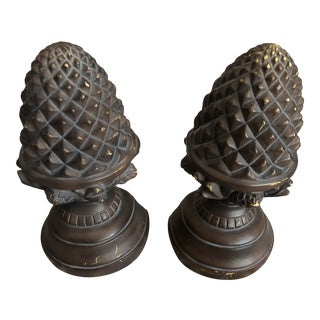 Bronze Acorn Bookends - a Pair For Sale