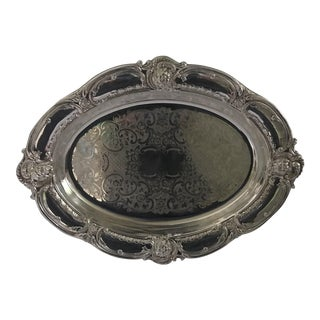 "Antique Poole Epca ""Old English"" Silverplate Serving Tray/Dish"