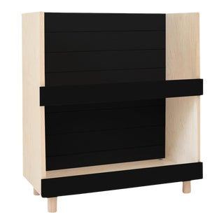 Nico & Yeye Minimo Modern Kids Bookcase in Maple and Black For Sale