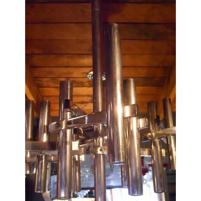 Italian Tubular Pendant by Sciolari For Sale - Image 3 of 6