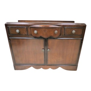 English Deco Oak Sideboard For Sale