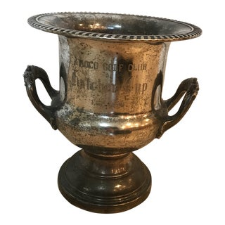 1970s Vintage Golf Trophy Champagne Bucket For Sale