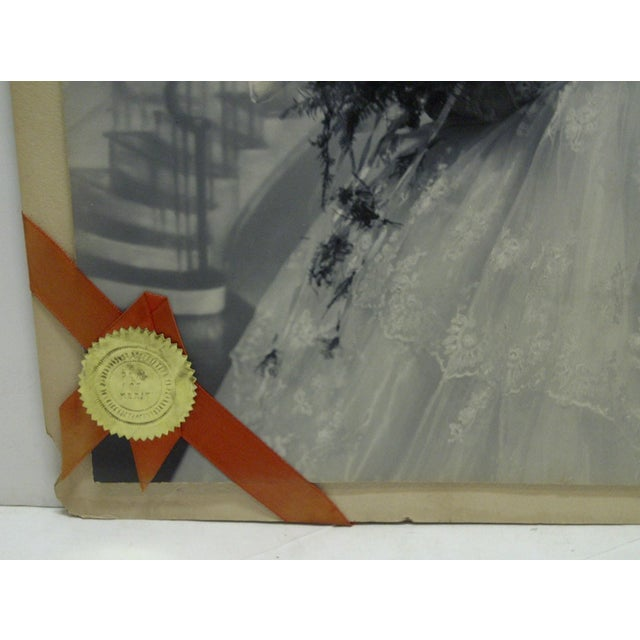 C. 1955 Portrait of a Bride by Vincent Evans Jr. Black & White Photograph For Sale - Image 5 of 6