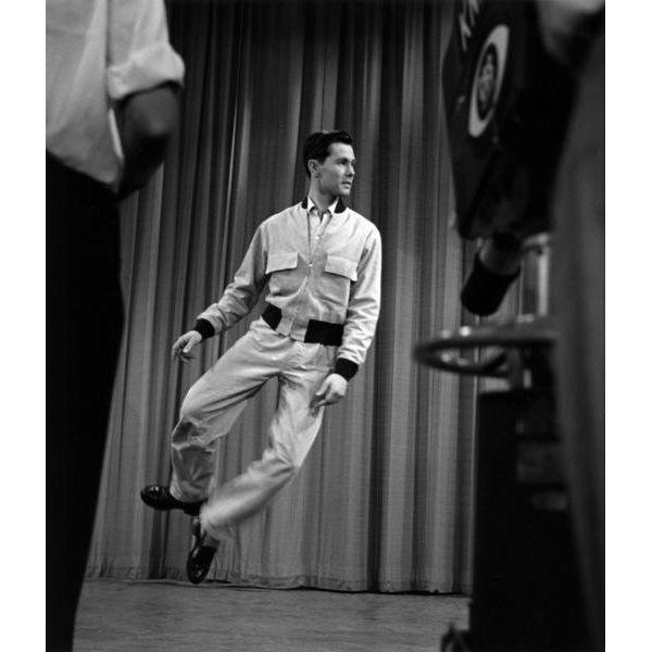 """Johnny Carson photographed on his first TV Show """"Carson's Cellar"""" in 1953. This fine art print (silver gelatin) is one of..."""