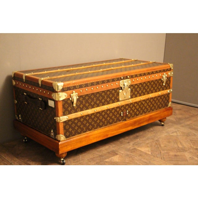 1930s Louis Vuitton Cabin Steamer Trunk For Sale - Image 13 of 13