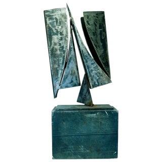 20th Century Modern Art Steel Sculpture For Sale